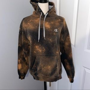Champion Bleached Distressed Hoodie